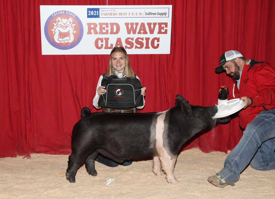 Reserve Champion Hampshire Market Hog